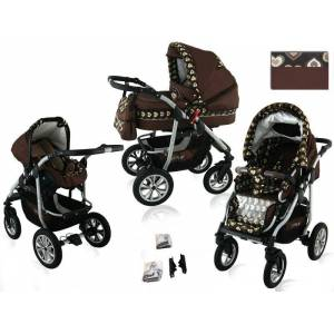 Coral Duo 3 in 1 Barnvagn – Travel System - Marron Glace