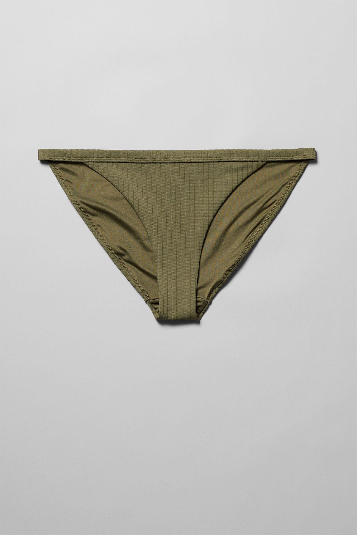 Crystal Ribbed Swim Bottoms - Green