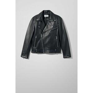 Biker Leather Jacket - Black