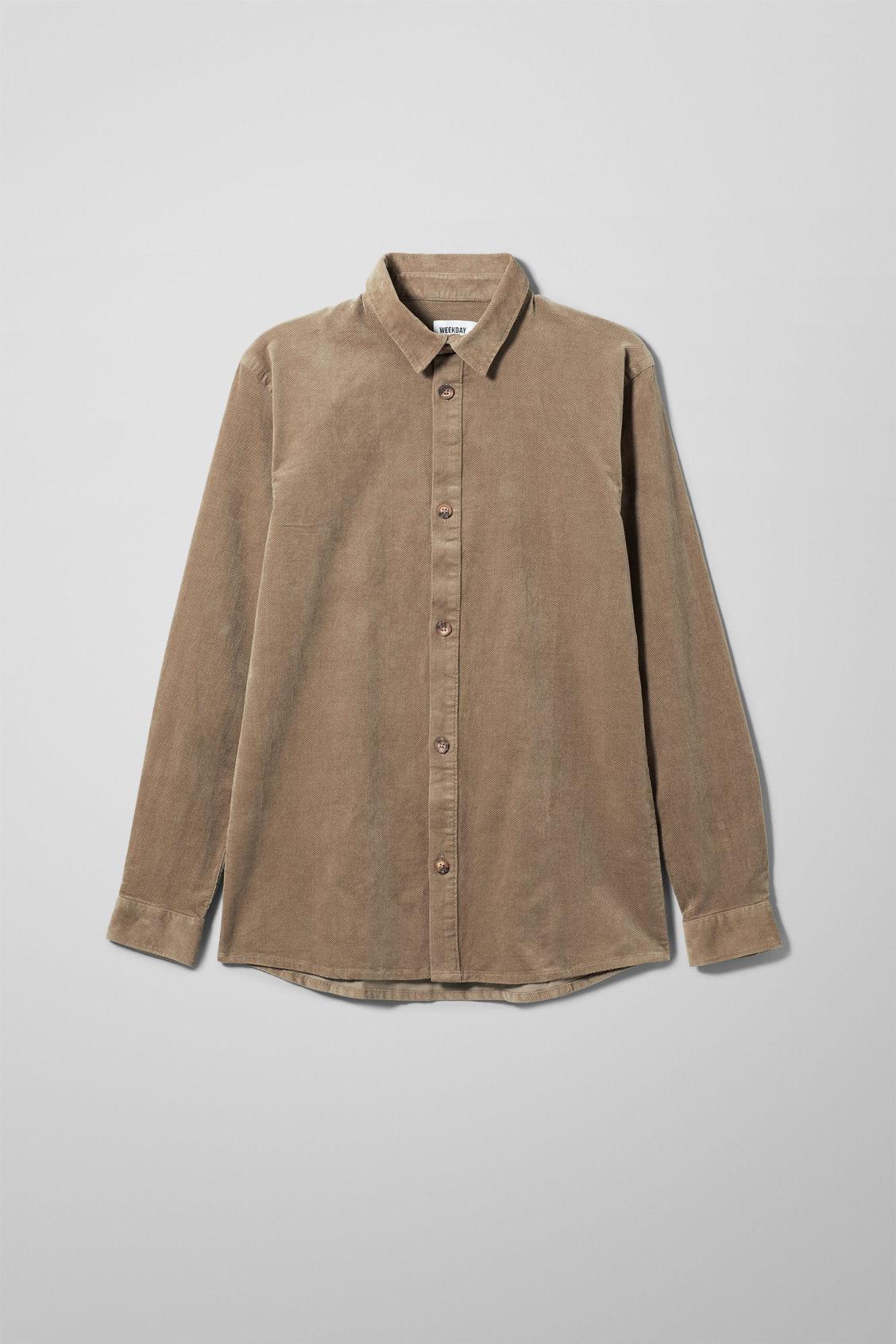 Spit Corduroy Shirt - Beige