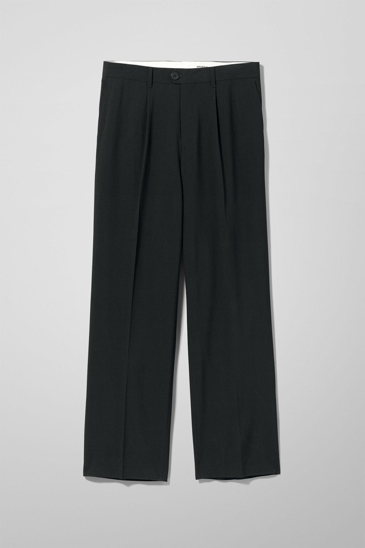 Conrad Wide Leg Trousers - Black