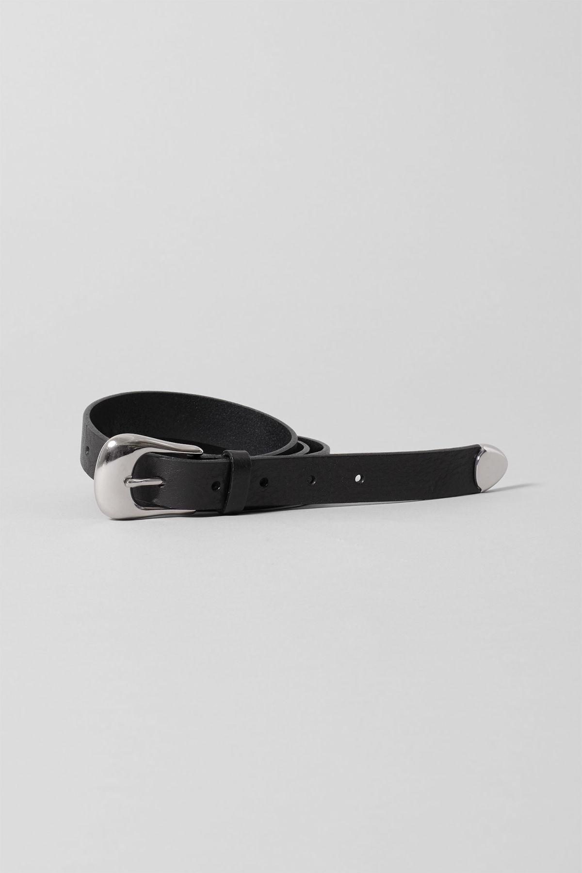 Jam Leather Belt - Black
