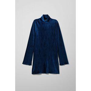 Ada Velvet Dress - Blue