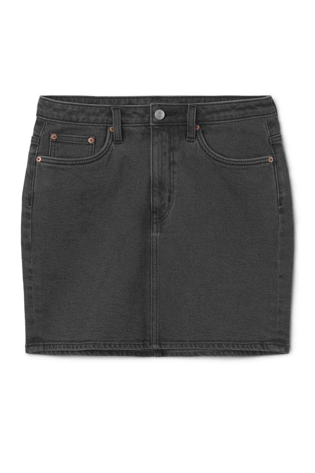 Wend Denim Skirt Black Favor - Black