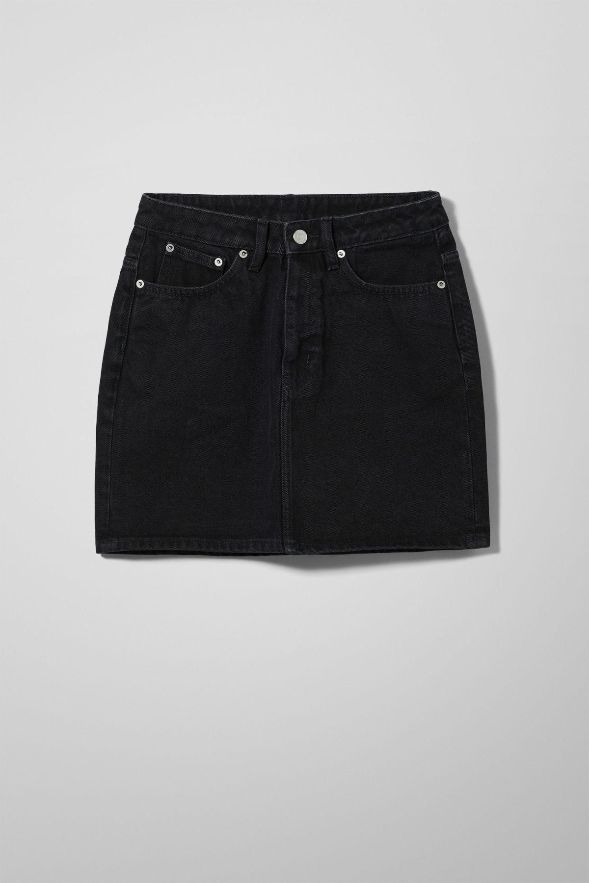 Wend Black Denim Skirt - Black