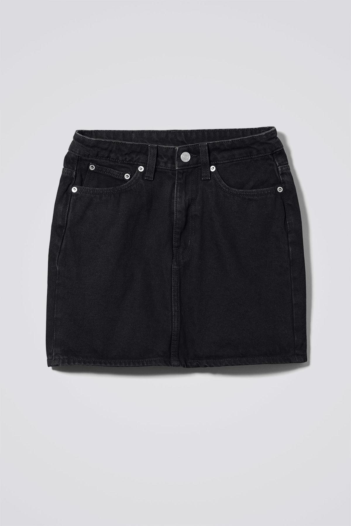 Wend Denim Tuned Black Skirt - Black