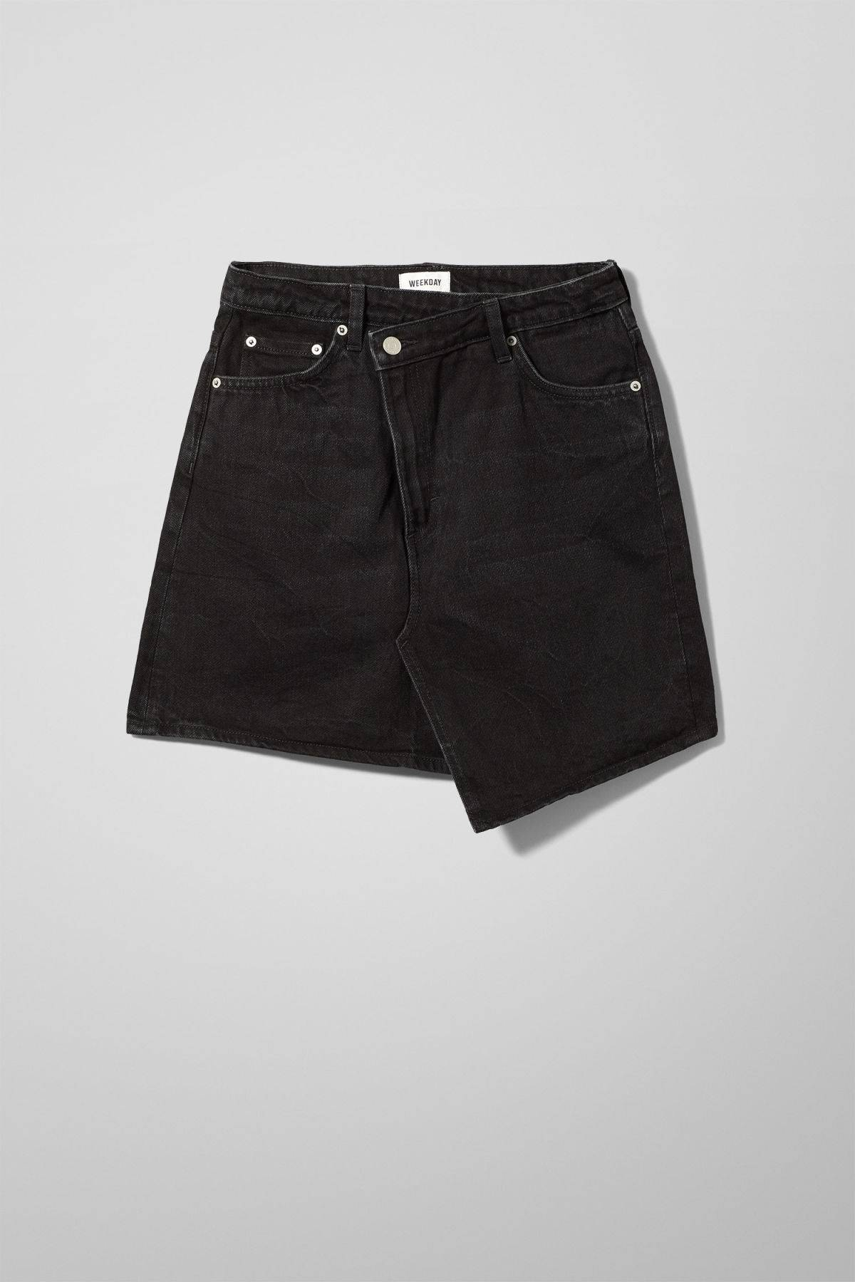 Newa Denim Skirt - Black