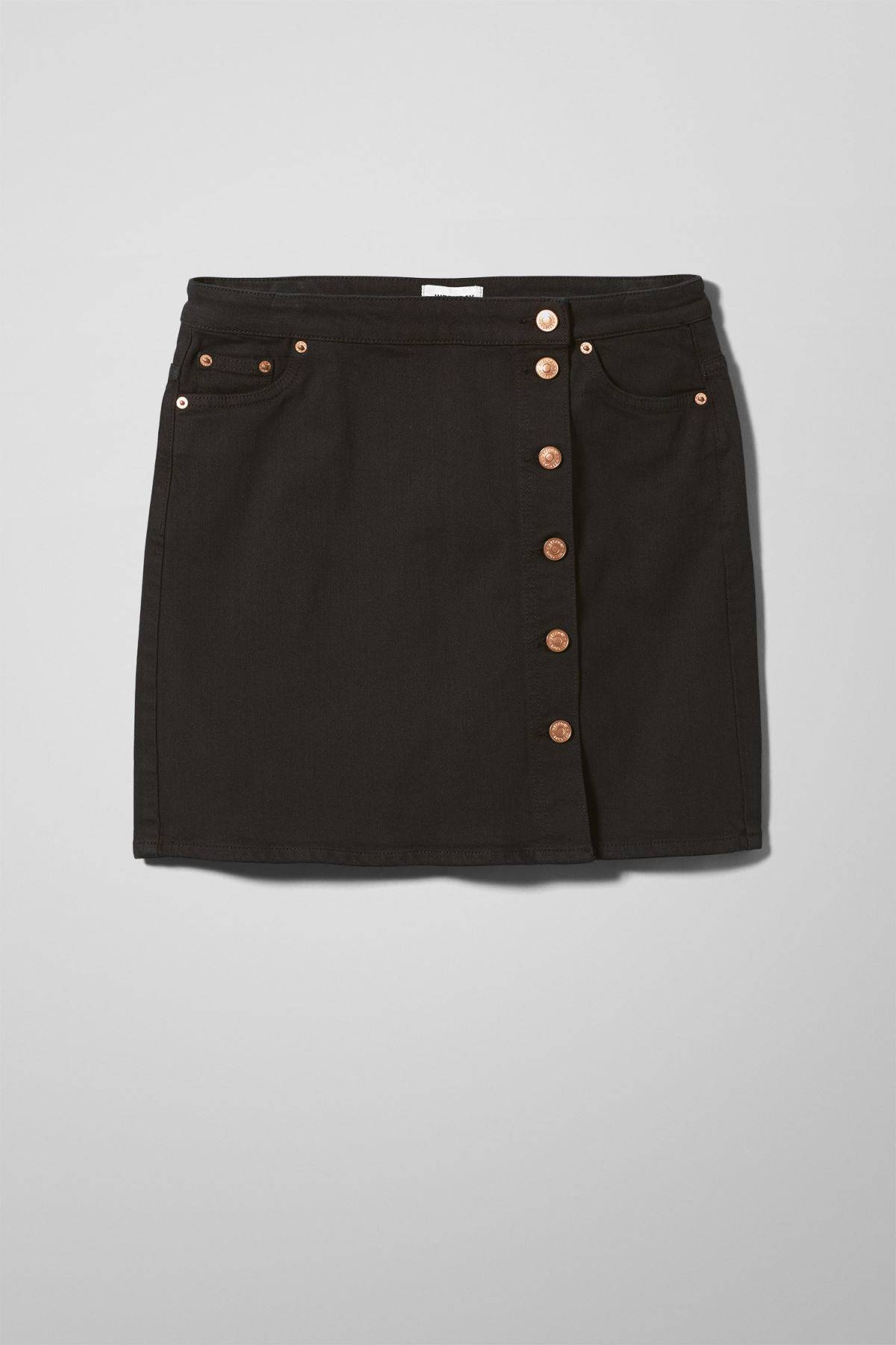 Sax Denim Skirt - Black