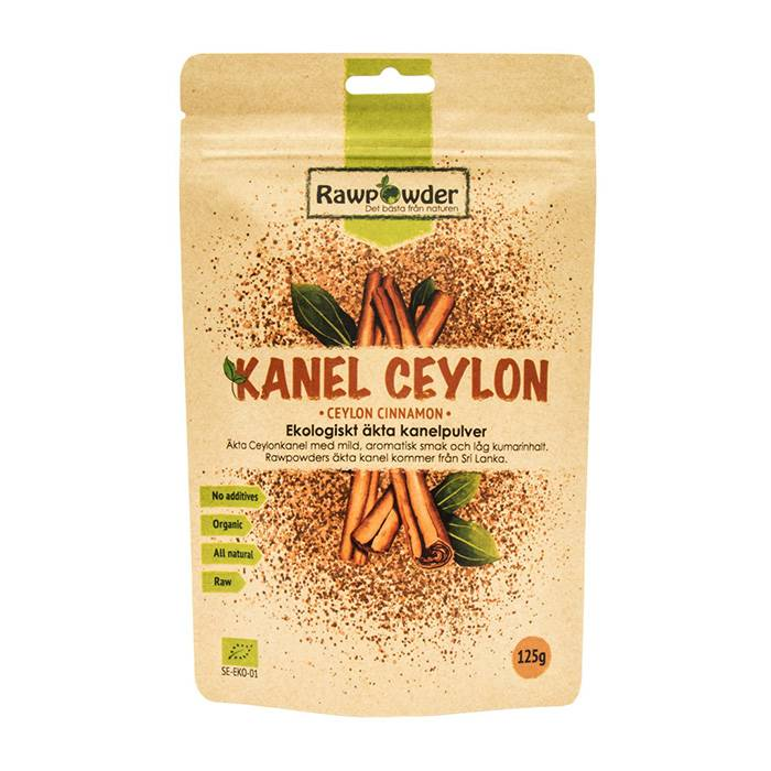 Rawpowder Kanel Ceylon mald 125 g EKO