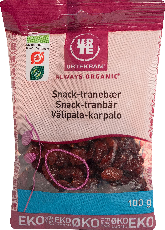 Urtekram Snack tranbär eko 100 g