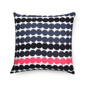 Marimekko Designtorget Kuddfodral Räsym.50x50 blå/ros