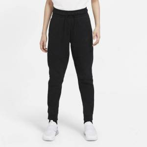 Nike Byxor Nike Sportswear Tech Fleece för ungdom (killar) - Svart Svart XS