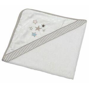 Be Be 's Collection Badhandduk med huva Glitter stars 80 x 80 cm