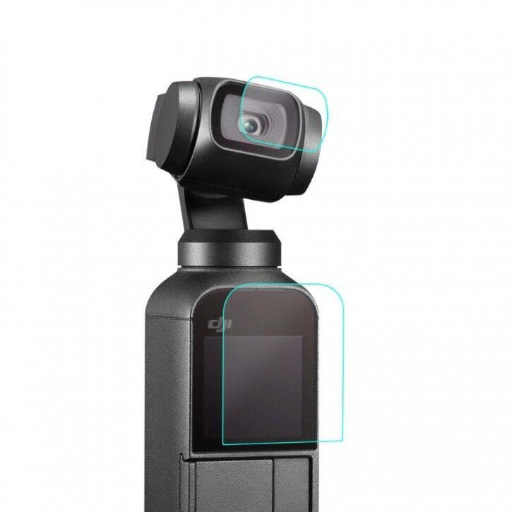AK Skyddande film för kamera / bildskärm till DJI Osmo Pocket - 2-pack - Kit