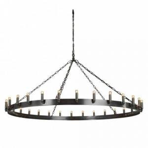 Crown Ceiling lamp - Antique iron  L