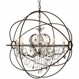 Antique ROME CRYSTAL Ceiling - Antique rust/crystal  L