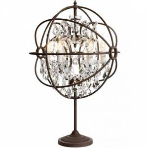 Antique ROME CRYSTAL Table lamp - Antique rust/Crystal