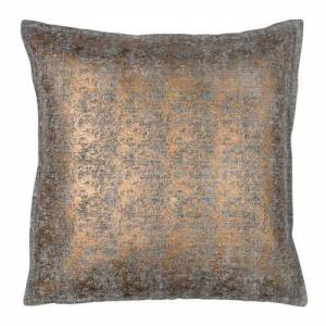Cushion Cover - Brushed Cotton - Black and Copper