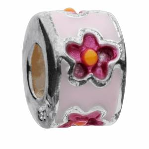 Amadora Silver Flower and Beads Pack of Three Charms - One Size - Silver