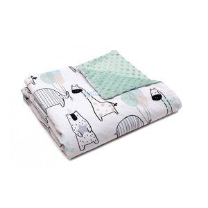 Pulp Minky fleece täcke, Giraffes