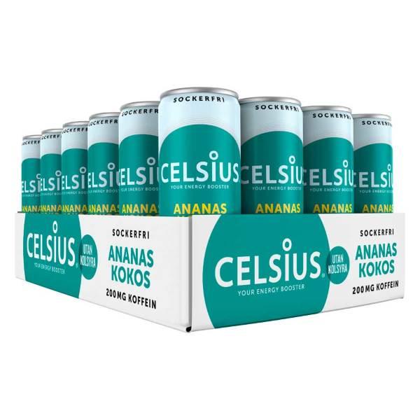Celsius Ananas Kokos (355ml) -24-pack