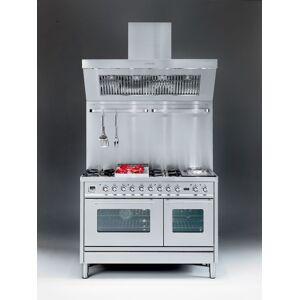 Ilve Gasspis Professional Plus Hi-tech PS120 - 6 gasbrännare + stekbord, ugn 70+40 cm