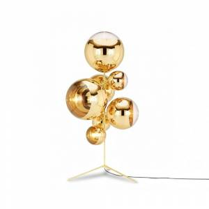 Tom Dixon Mirror ball golvlampa - guld