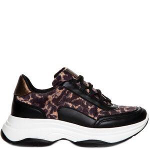 Duffy Sneakers - Svart & Leopard
