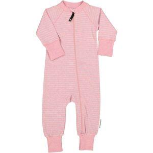 Geggamoja Tvåvägs-zip Pyjamas Classic Rosa randigt 74/80