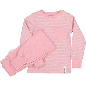 Geggamoja Tvådelad Pyjamas Classic Rosa randigt 146/152