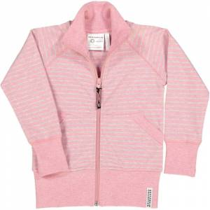 Geggamoja Zip-tröja Classic Rosa randigt 74/80