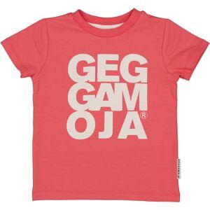 Geggamoja T-shirt Hallonröd 98/104