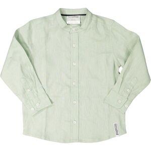 Geggamoja Linneskjorta Grön 74/80