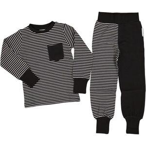 Geggamoja Tvådelad Pyjamas Classic Svart/vit 110/116