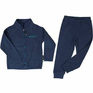 Geggamoja Fleeceset marinblå 122/128
