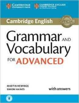 Grammar and Vocabulary for Advanced Book with by Martin Hewings