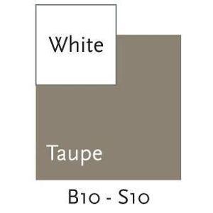 Doomoo Cover för omvårdnad kudde, vit / Taupe, Large