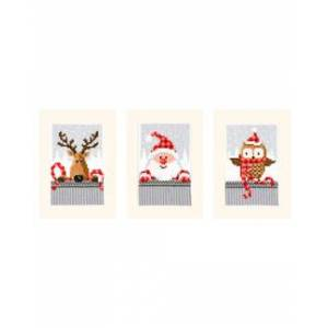Vervaco Kort Julens vänner 3-pack
