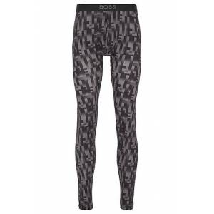 Boss Printed long johns in sustainably produced stretch fabric