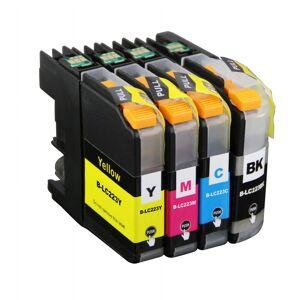 Brother Kompatibel till Brother LC 223 Bläckpatroner Rabattpaket 4 st kompatibel 46 ml