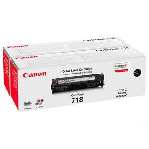Canon 718 BK 2662B005 Svart toner original 2-pak