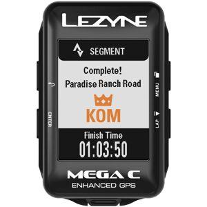 Lezyne Mega C Cykeldator med GPS - One Size Svart   Datorer