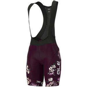 Alé Graphics PRR Fiori Bib-shorts - Dam - XL Plum    Bib-shorts