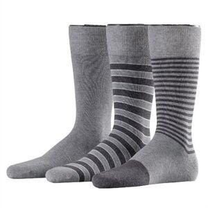 Esprit Stripe Mix 3-pack Men Socks Light Grey Melange