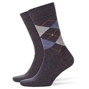 Burlington Everyday 2-pack Men Socks Anthracite Melange