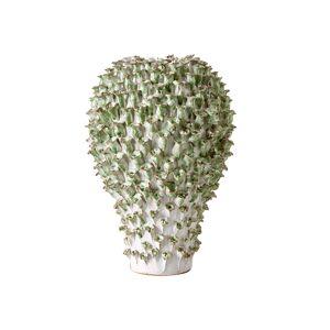 Asiatides Vas Green Coral Flowers Large