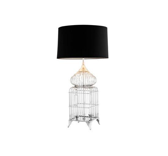 Eichholtz Bordslampa La Cage Nickel