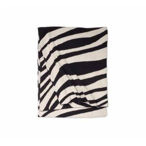 Ellens agenturer Zebra pläd svart