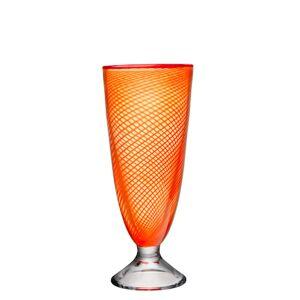 Kosta Boda Red Rim Orange Vas 26cm