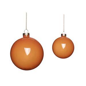 Hübsch Julkulor Glas Orange 2 storlekar